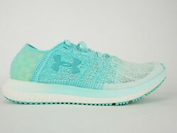 Womens Under Armour Threadborne Blur 3000098 Aqua Lace Up Running Shoes Trainers