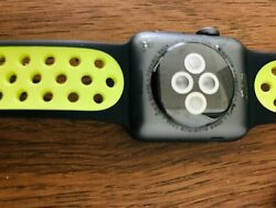 Apple Watch Nike+ 38mm Aluminum Case Black/volt Sport Band Mp082zp/a Sold As Is