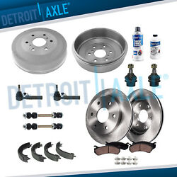 16pc Front Rear Brake Rotor Drum And Sway Bar For 2009-2013 Silverado Sierra 1500