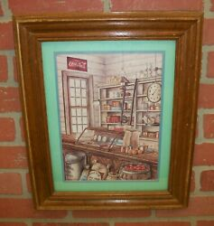 Kay Lamb Shannon Old General Country Store Coca Cola Advertising Framed Print