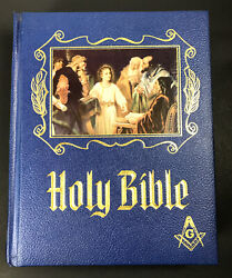 Masonic Holy Bible Ed.,master Reference Heirloom Red Letter Ed 1971