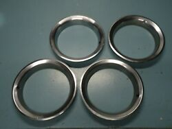 Set 4 Oem Gm 15 Wheel Rim Chrome Trim Ring 2.5 Deep Pontiac Rally Firebird