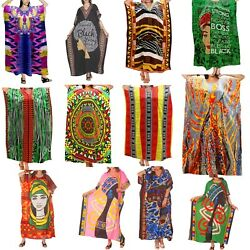 Kaftan Dress Caftan Beach Cover Boho Gown Hippie Beach Women African Plus Size $12.99