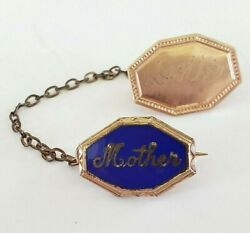 Wwii Mother Enamel Sweetheart Chatelaine Pins Military Gold Tone Etched Dottie