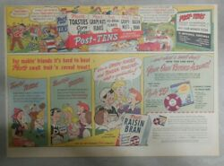 Post's Cereal Ad Beauty And The Beast Record Premium 1948 Size 11 X 15 Inches