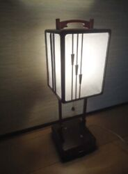 Japanese Andon Lamp Electric Working Good F/s