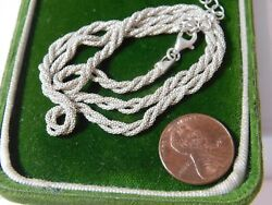 Sterling Silver Triple 3 Twisted Popcorn Chain 1618 Necklace 6.2g 8d 120