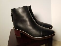 Womenand039s Cole Haan Winnie Grand Black Leather Ankle Boots Booties Size 5.5
