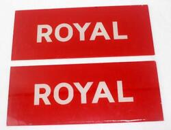 Vintage Conoco Royal Service Station Gas Pump Glass Signs Lot Of 2