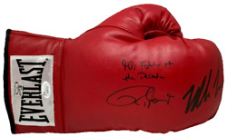 Mike Tyson And Roy Jones Jr Signed Red Everlast Glove Jsa And Mike Tyson Hologram