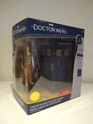 5th Doctor Who Caves Of Androzani Tardis Bandm 5.5andrdquo Classic Figure Set Fifth Dr