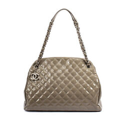 Just Mademoiselle Large Bowling Bag In Sage W/ Silver Tone Hardware
