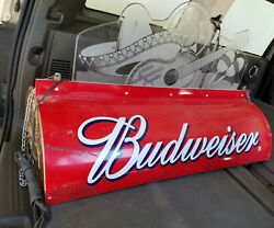 Vintage Budweiser Beer Pool Table Light Sign 80's Mariachi Rare Works