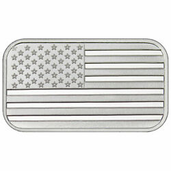 1 Troy oz American Flag .999 Fine Silver Bar Sealed $30.55