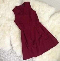 Gap Dress Maroon Fit And Flare Womens Burgundy Size 0 A2