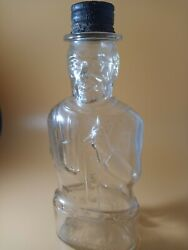 Vintage Abraham Lincoln 1950's Bank Bottle From Lincoln Foods, Lawrence Mass.
