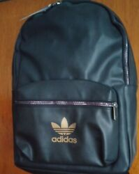 ADIDAS Originals Backpack Women#x27;s Black with Gold Logo NEW $39.99