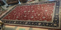 Huge Room Size Hand Made Vintage/antique Persian Wool Rug 12'x19'