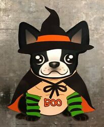 Boston Terrier Halloween Witch 7quot; Magnet