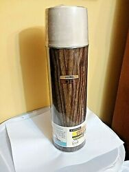 Sealed Vintage 60s 70s Metal Wood Grain Thermos King Seeley Soup Cup Cooler