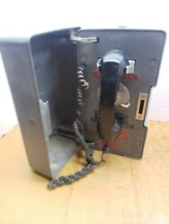 Vintage Western Electric Bell System Outdoor Call Box Rotary Telephone