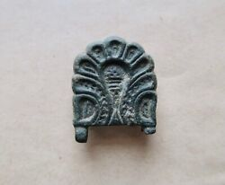 Byzantine Decorated Bronze Buckle As Found. A Rare And Excellent Artifact