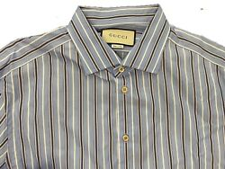 625 Striped Light Blue Cotton Shirt Size Us Xxl Eu 56 Made In Italy