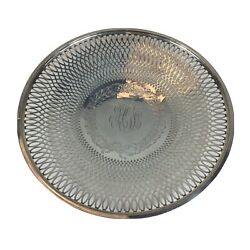 American Sterling Silver Pierced Dish Frank M Whiting 19.2cm In Diameter 125g