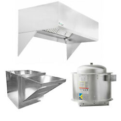 Hoodmart 7and039x48 Restaurant Type 1 Commercial Kitchen Hood System W/ Makeup Air