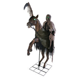 Halloween Reaperand039s Ride Prop Haunted House Lifesize Animated Horseman Skeleton