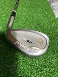 """Cleveland Cg16 58/12 Tour Zip Grooves Steel 35.5"""" Inches Rh Lob Wedge Nice"""