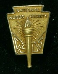 14k Yellow Gold National Honor Society Torch Pinback Pin Csls Mint Condition