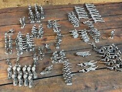 Lead Metal Toy Vintage Soldiers 1.5andrdquo -3andrdquo Tall Unpainted And Unshaven Lot Of 150 +