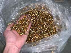 Approx 5k Or More Welding Hose Brass Ferrules 0.48 Id 0.24 Od Caps With Hole