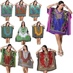 Kaftan Dress Caftan Beach Cover Boho Gown Hippie Beach Women African Plus Size $9.99