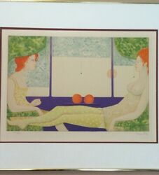 Leonor Fini Surrealist Red Heads Limited Edition Lithograph Pencil Signed Framed