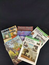 Set 5 Vintage How To Draw And Paint Instruction Books Walter T. Foster Publisher