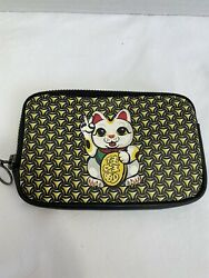 Goods Of Desire God Lucky Cat Essential Bag Change Purse Genuine Leather
