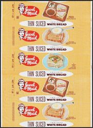 Vintage Bread Wrapper Jewel Maid Jewel Tea Co Chicago Woman Pictured 1960 N-mint