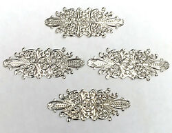 20 Pcs Oval Silver Plated Embellishment Scrapbook Paper Filigree Metal Stamping