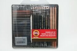 Koh-i-noor 8899 Ot Gioconda 24 Piece Drawing Art Set In A Tin New Sealed Package