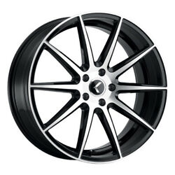 Kraze 193 Turismo 20x8.5 5x120 Et38 Gloss Black With Machined Face Qty Of 4