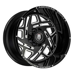American Truxx At1904 Cosmos 22x12 5x127/5x139.7 Et-44 Black/milled Qty Of 4