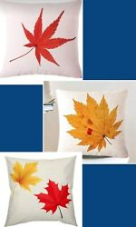NWT pillow cover linen flax fabric holiday Fall Autumn 18quot;x18quot;