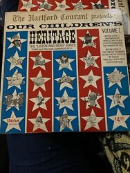 Our Childrens Heritage Vol 1, 2, And 3 Listen And Read Series Hartford Courant Ct Lp