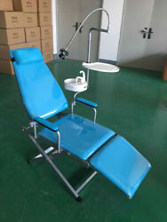 Portable Dental Folding Mobile Chair+water Basin Instrument+tray+led Light