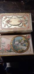 2 Vintage Colorful Chocolate Candy Tins For Mother Vassar Canco Artstyle