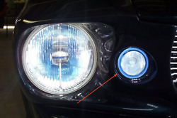 Blue Halo Fog Lamps Lights Kit For Ford Mustang Eleanor Shelby Gt-500 Fastback