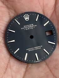 Vintage Rolex Oyster Perpetual Date Ref 1500 Black Gilt Dial 1960's
