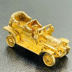 Vintage 9ct 375 Yellow Gold 1904 Spyker Car With Moving Wheels Charm L280